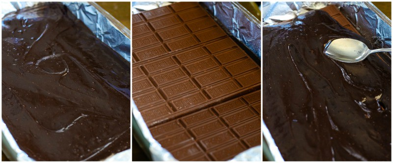how to make easy candy bar brownies