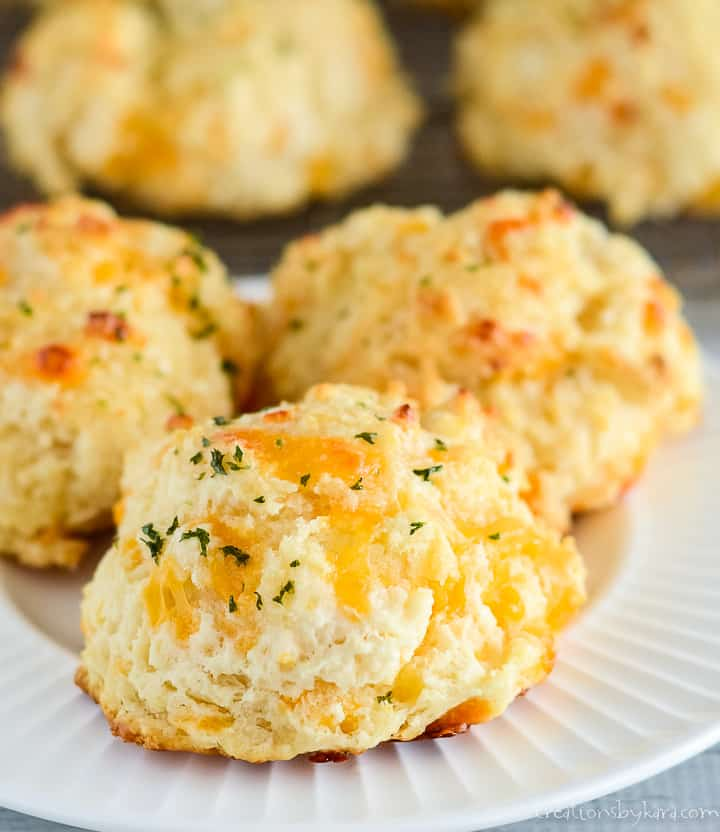 plate of garlic biscuits with cheese