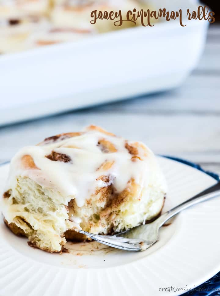 gooey cinnamon rolls with cream cheese frosting