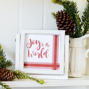 joy to the world farmhouse christmas sign