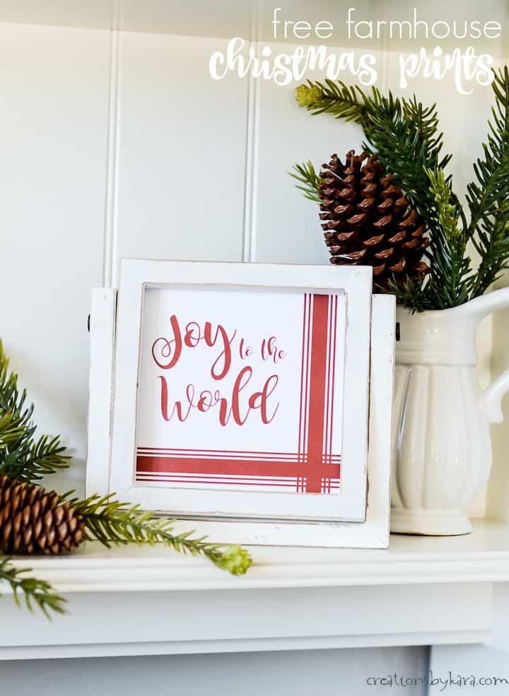 joy to the world farmhouse christmas sign