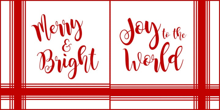 red and white christmas signs