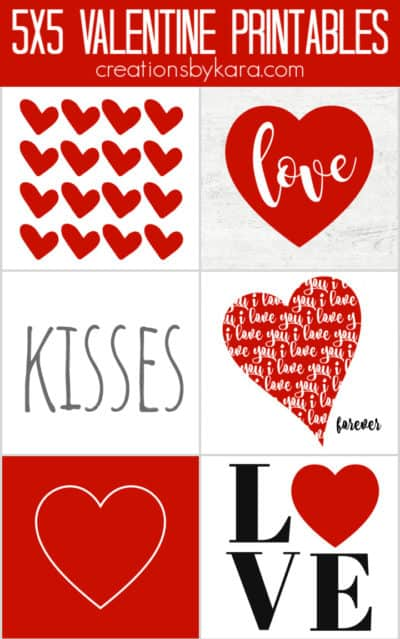 red valentine's day signs collage