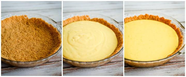 steps for making homemade key lime pie