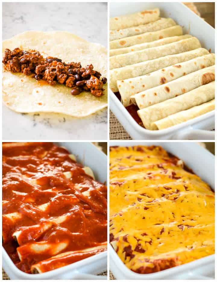 making enchiladas instructions