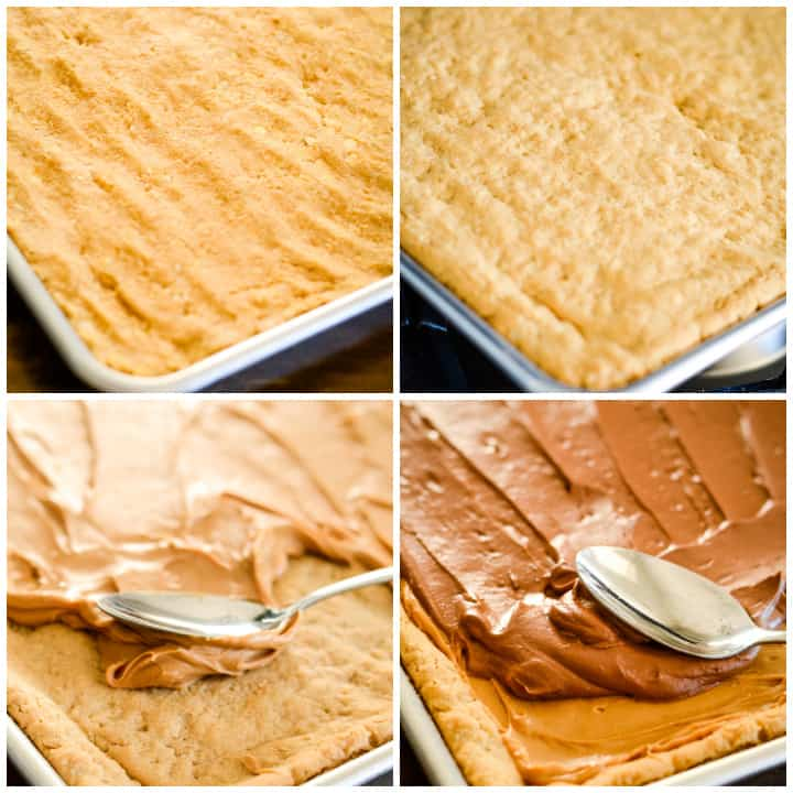 steps for making the best lunch lady peanut butter bars