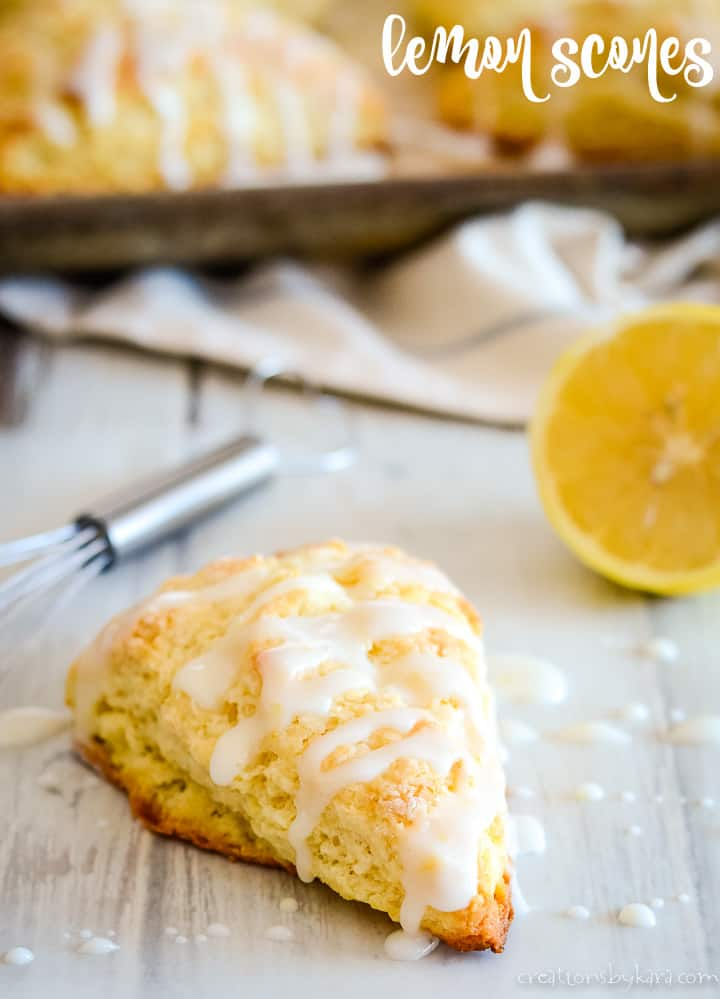 glazed lemon scones title photo