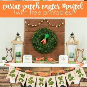 carrot patch easter mantel decor ideas