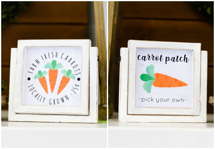 carrot patch easter printables collage