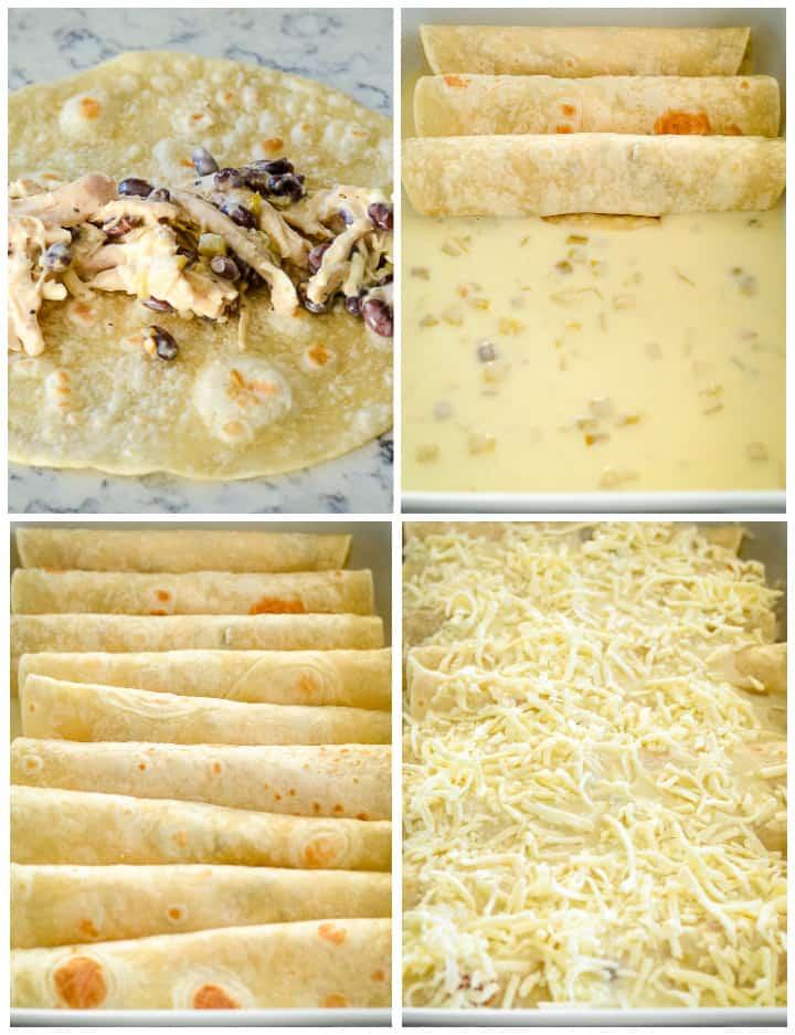steps for how to make chicken enchiladas