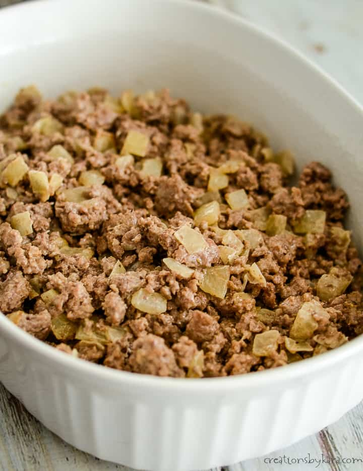 ground beef mixture for keto casserole