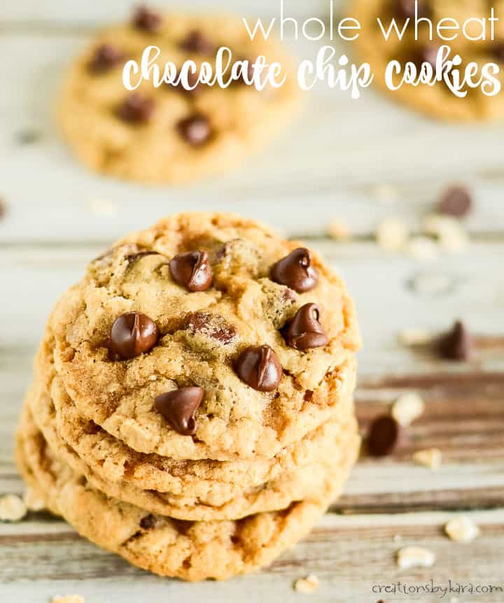 whole wheat chocolate chip cookies title photo