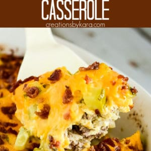 low carb bacon cheeseburger casserole Pinterest Pin