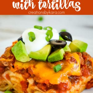 Mexican Lasagna with tortillas pinterest photo