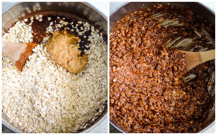 how to make the best no bake cookies with chocolate and peanut butter