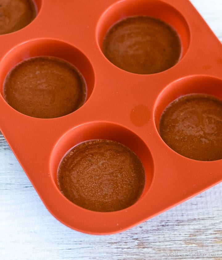 chilled chocolate peanut butter fat bombs (keto)