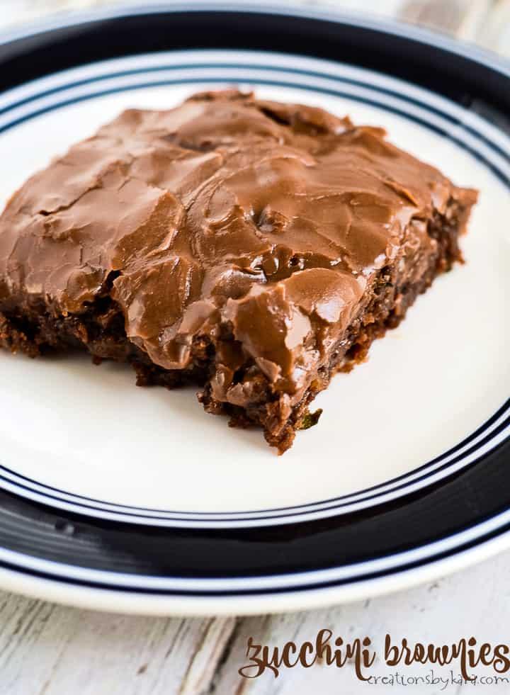 chocolate zucchini brownies title photo