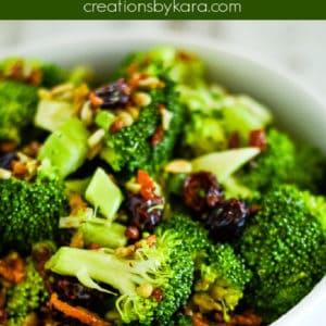 broccoli salad with bacon pinterest pin