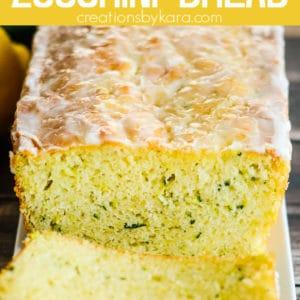 lemon zucchini bread pinterest pin