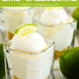 mini no bake lime cheesecake recipe pinterest pin