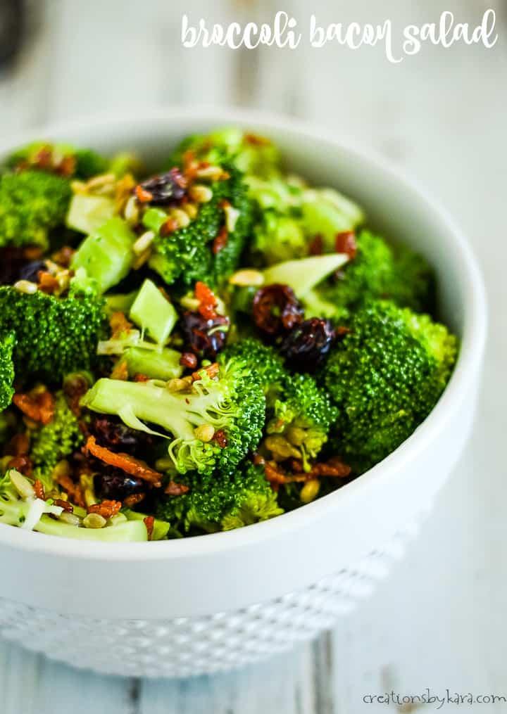 broccoli bacon salad recipe title photo