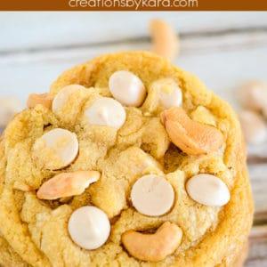 caramel cashew cookies pinterest pin