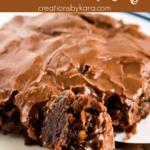 chocolate frosted zucchini brownies pinterest pin