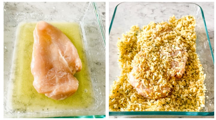 steps for making potato chip crusted chicken