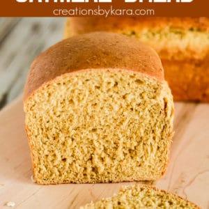 homemade oatmeal molasses bread recipe pinterest pin