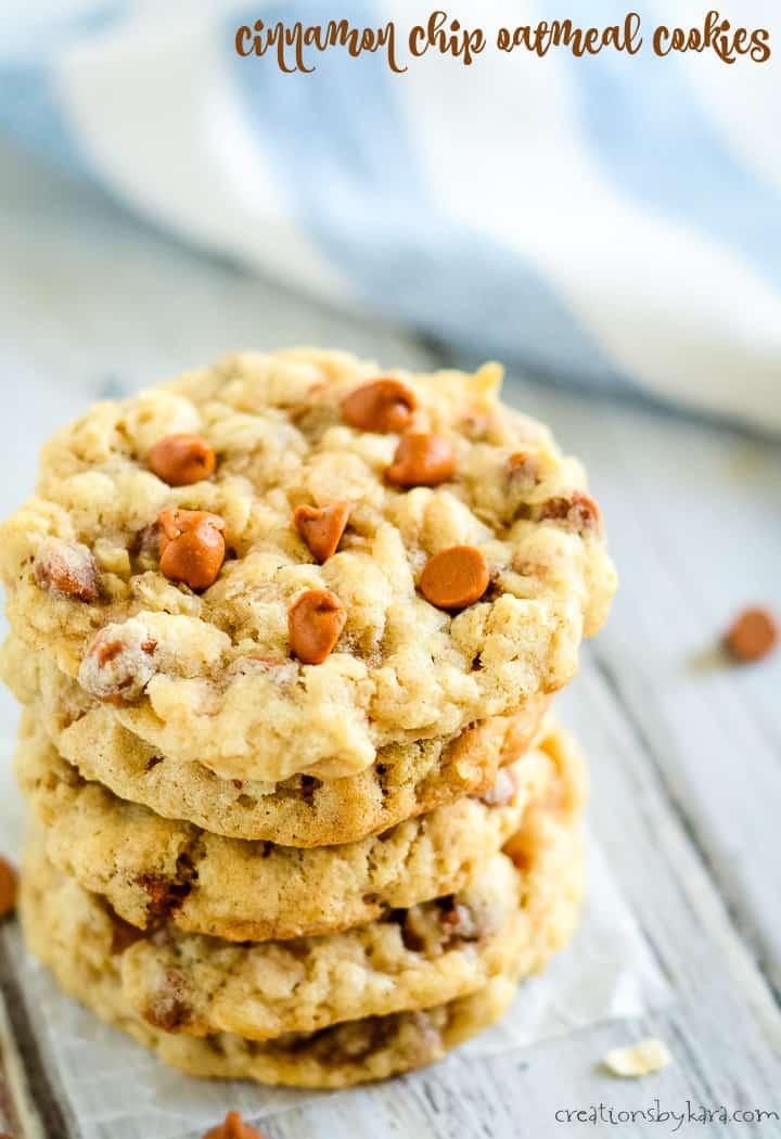 cinnamon chip oatmeal cookies title photo