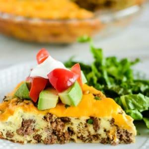 crustless taco pie recipe