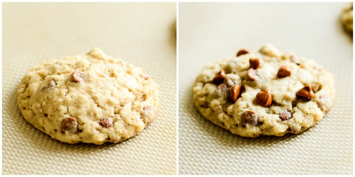 tips for making bakery style cinnamon oatmeal cookies with cinnamon chips