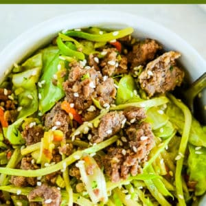 low carb egg roll in a bowl recipe pinterest pin