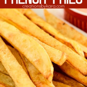 oven baked french fries pinterest pin