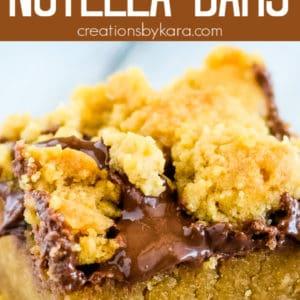 ooey gooey peanut butter nutella bars recipe