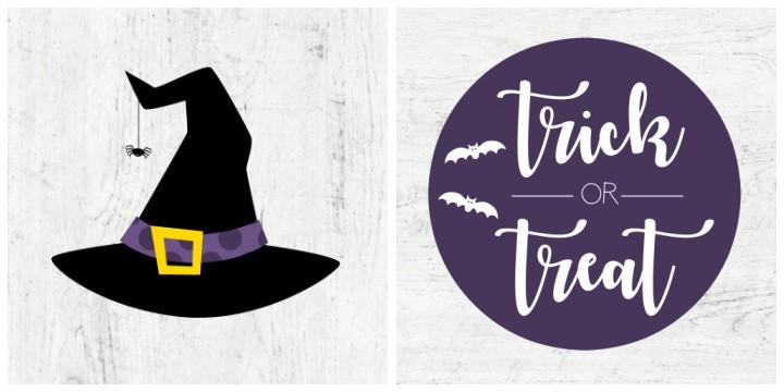 5x5 printable farmhouse halloween signs collage