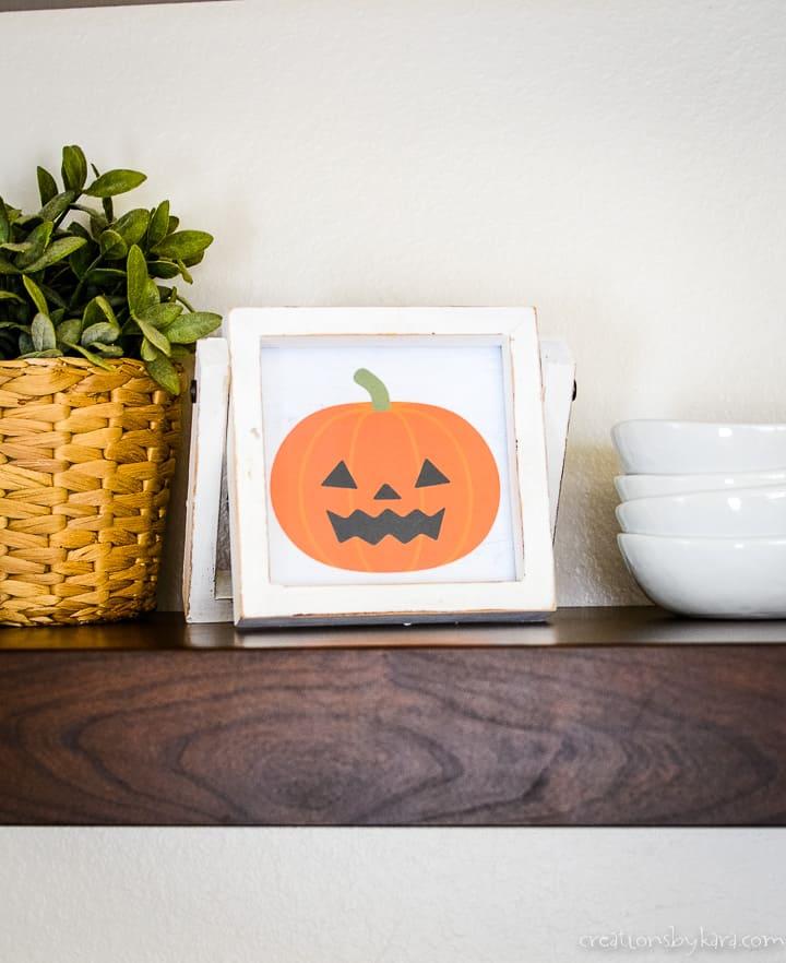 free printable halloween sign - jack o lantern
