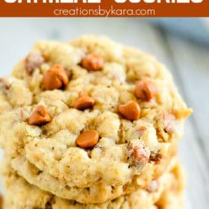 oatmeal cinnamon chip cookies recipe pinterest pin