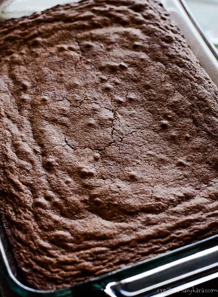 pan of brownies