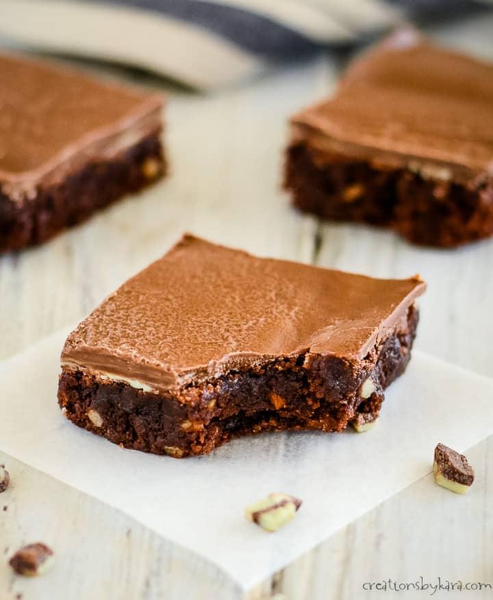 easy andes mint brownies