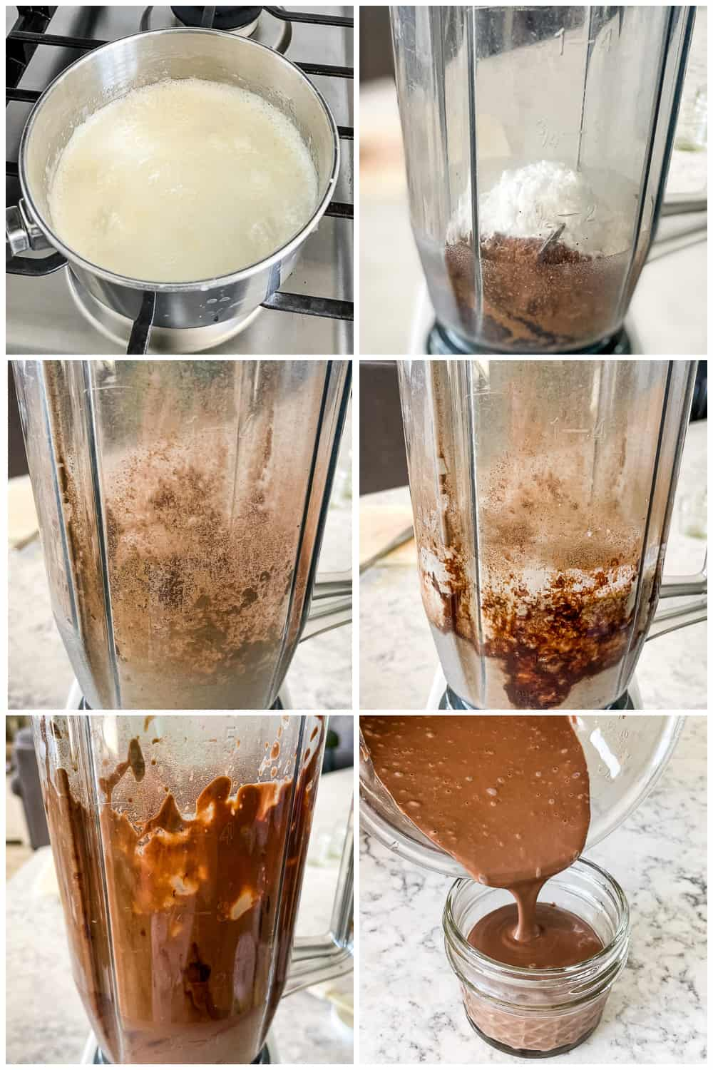 instructions for making blender chocolate mousse